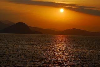 山口萩の夕日